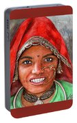 Northindian Woman Portable Battery Charger