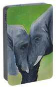 Nose To Nose In Green Portable Battery Charger