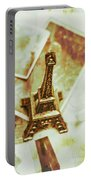 Nostalgic Mementos Of A Paris Trip Portable Battery Charger