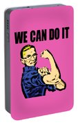 Notorious Rbg Ruth Bader Ginsburg We Can Do It Pop Art Portable Battery Charger