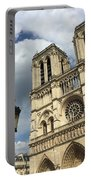 Notre Dame And Lamppost Portable Battery Charger
