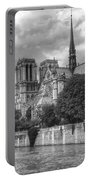 Notre Dame And Seine Portable Battery Charger