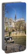 Notre Dame And The Seine Portable Battery Charger