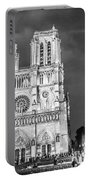 Notre Dame B/w Portable Battery Charger