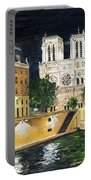 Notre Dame Portable Battery Charger by Bruce Schmalfuss