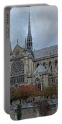 Notre Dame Cathedral In Paris, France Portable Battery Charger