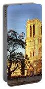Notre Dame De Paris Facade Portable Battery Charger