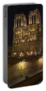 Notre Dame Night Painterly Portable Battery Charger