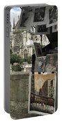 Notre Dame Street Art Portable Battery Charger