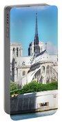 Notre Dame Over Water Portable Battery Charger