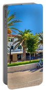 Novalja On Pag Island Palm Waterfront View Portable Battery Charger
