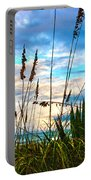 November Day At The Beach In Florida Portable Battery Charger