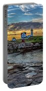Nubble Light At Sunrise Portable Battery Charger