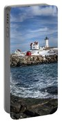Nubble Lighthouse Winter Portable Battery Charger