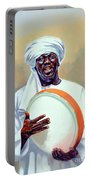 Nubian Musician Player Playing Duff Portable Battery Charger