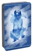 Nude In Blue Portable Battery Charger