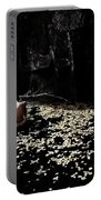 Nude In Monochrome  Leaf Pool Portable Battery Charger