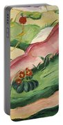 Nude Lying In The Flowers 1910 Portable Battery Charger