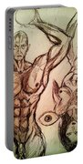 Nude Sketch 49 Portable Battery Charger