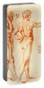 Nude Study Of Two Warriors Portable Battery Charger