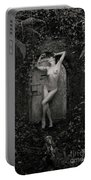 Nude Woman And Doorway Portable Battery Charger