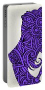 Nude Woman Silhouette Ultraviolet Portable Battery Charger
