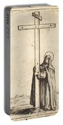 Nun Embracing The Holy Cross Portable Battery Charger