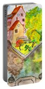Nuremberg, Hand Drawn Picture Portable Battery Charger