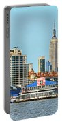Ny Skyline And Chelsea Piers Portable Battery Charger