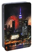 Nyc 4th Of July Fireworks Portable Battery Charger