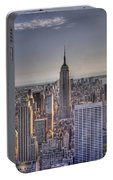 Nyc At Dusk Portable Battery Charger