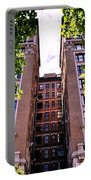 Nyc Building With Tree Overhang Portable Battery Charger