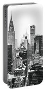 Nyc Snow Portable Battery Charger by Vivienne Gucwa