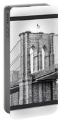 Nyc Three Bridges-east River Portable Battery Charger