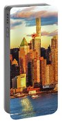 Nyc West Side Skyscrapers At Sundown Portable Battery Charger