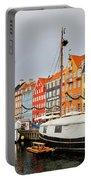 Nyhavn Harbour In Copenhagen Portable Battery Charger
