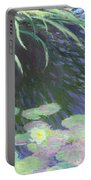 Nympheas Avec Reflets De Hautes Herbes Portable Battery Charger