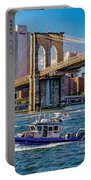 Nypd On East River Portable Battery Charger