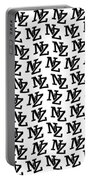 Nz New Zealand Black On White Portable Battery Charger