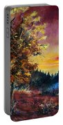 Oak At Sunset Portable Battery Charger