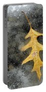 Oak Leaf In Ice Three  Portable Battery Charger