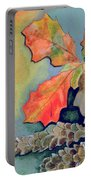 Oak Leaves And Pinecones Portable Battery Charger