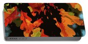 Oak Leaves In Autumn Portable Battery Charger