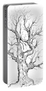 Oak Tree Abstract Study Portable Battery Charger