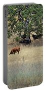 Oak Tree And The Cows Portable Battery Charger