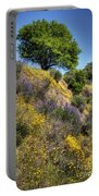 Oak Tree And Wildflowers Portable Battery Charger