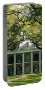 Oak Trees In Front Of A Mansion, Oak Portable Battery Charger