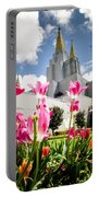 Oakland Pink Tulips Portable Battery Charger