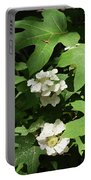 Oakleaf Hydrangea Floral Portable Battery Charger