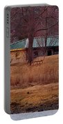 Obear Park At Sunset In Winter Portable Battery Charger
